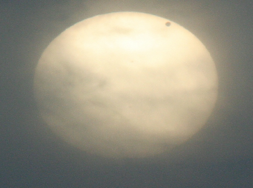 Steve Kimmins's image of the Transit of Venus 2012 viwed from Bath